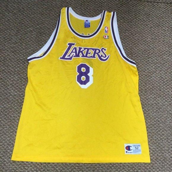 Los Angeles Lakers Kobe Bryant Champion Jersey 52
